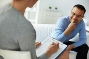 a counselor providing an individual counselling approach